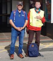 Bill Robson and Tony Sanderson walk Railway Route for End Polio Now