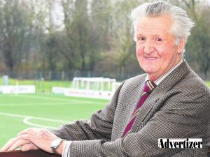 Rotarian Bill Shaw Celebrates Links With Oswestry Town FC