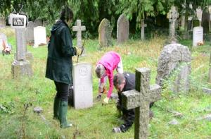 Rotarians visit War Graves in Black Bourton Churchyard