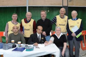 Dr Abu Nasar and team with the Brid Rotary Club Helpers