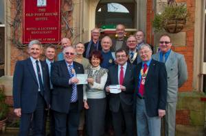 Bonfire Proceeds - Cheque Presentation 19th January 2012