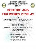 Annual Rotary Bonfire and Fireworks