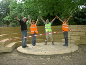 Bourne Abbey Primary School  Project to construct a paved patio area to an outdoor teaching and theatre area in June 2009