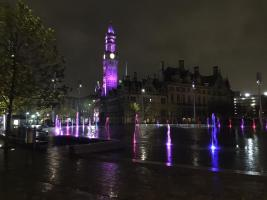 Bradford in purple