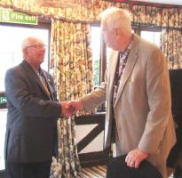 PDG Brian Key & his wife Shirley visit Hythe Rotary Club