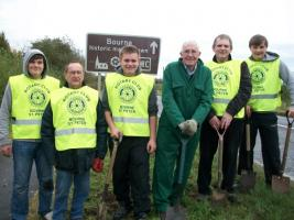 Daffodil bulb planting in Bourne on 27th October 2012