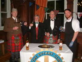 Pipes and poems at Rotary Burns Night Supper