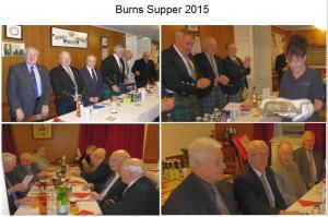The annual Burns Supper for 2015