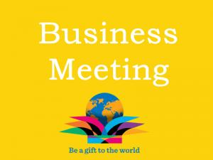 Lunchtime Meeting - 12.45pm - Business Meeting & Ruth Thomas