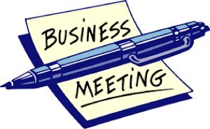 Monthly Business Meeting - 29/10/18