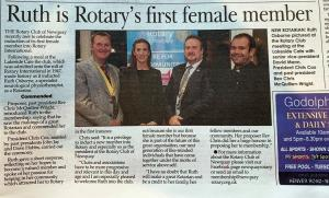 First Lady in Newquay Rotary Club