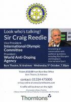 Sir Craig Reedie Chairman of the World Anti Doping Agency