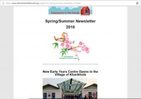 Classrooms in the Clouds Spring/Summer 2018 newsletter