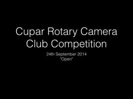 Camera Club 24th Sept 2014 - Open