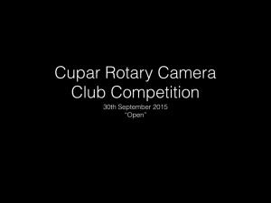 Camera Club 30th September 2015 - Open