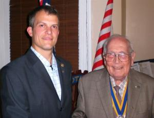 2011: Carl Cleghorn - now a Rotarian