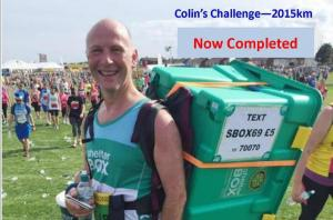 COLIN'S CHALLENGE - Latest