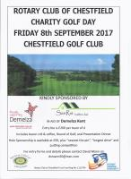 Charity Golf Day Friday 8th SEptember 2017