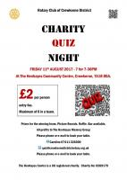 Charity Quiz Night - 11th August 2017