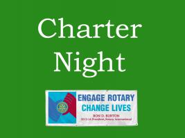 Charter Night - 6.30 for 7.00pm @ The Dining Rooms