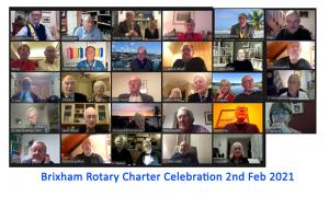 Brixham Rotary Charter evening online.