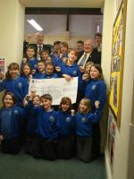 Cheque from Cantref Primary School 12th December 2012