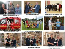 Charities supported during the 2016-17 Rotary year