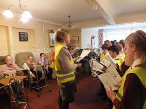 Carol Singing at Bungay Care Homes, Chevington Lodge and St Mary's House