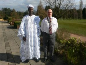 Chief Nana of Ghana visits the Rotary Club of Bishop's Stortford