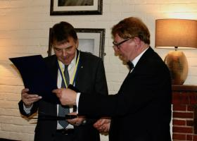Paul Harris Fellowship awarded to Chris Bedford