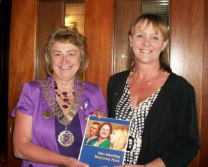 District Governor Margaret inducts Christine as a Rotarian in our Rotary Club on 16th July 2013