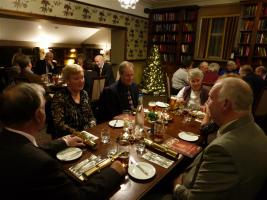 Members and partners enjoying Christmas dinner 2013