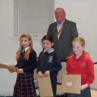 7 February 2013 - Christmas Story Competition winners receive their prizes