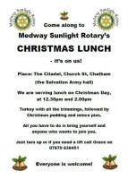 Christmas Lunch for the homeless and those on their own at Christmas