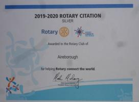 2019/20 Rotary Citation (Silver) well deserved through team effort