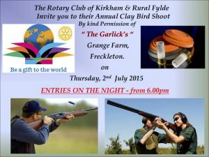 Kirkham Rotary Clay Pigeon Shoot.