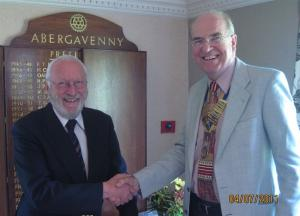 Induction of new member, Lionel Elton, on 4th July 2011