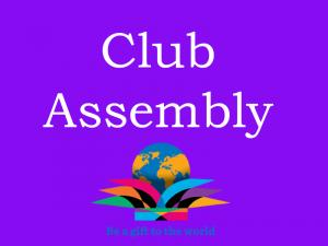 Lunchtime Meeting - 12.45pm - Club Assembly with ADG Prof David Brigden PHF