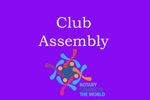 Lunchtime Meeting - 12.45pm - Assembly/Business Meeting