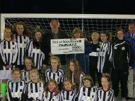 Rotary Donates New Kit to Colby FC Juniors Girls Team in March 2014