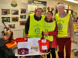 Christmas collection at Co-op in Knighton