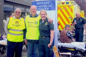 Rotarians working in the local community supporting the emergency services