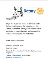 Rotary Foundation concert celebrating 100 years