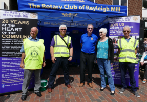 The Rotary Club of Rayleigh Mill join in all the fun of the Rayleigh Trinity Fair
