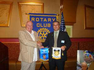 Clive Howells attends Rotary Club in Florida on 11th Oct 2012