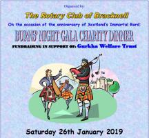 Burns` Night Gala Dinner with The Rotary Club of Bracknell