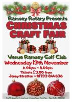 Christmas Craft Fair 2019 Wednesday 13th November 6pm - 8pm