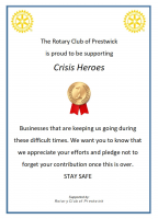 Rotary Club of Prestwick Supports Local Businesses