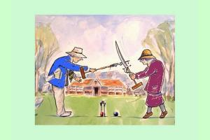 Croquet evening at St Andrew's