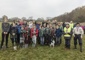 Memorial First World War Centenary Peace Wood tree planting, Saturday 17th November 2018